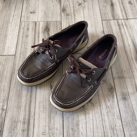 SPERRY Top-Sider Intrepid Brown Leather Boat Shoes